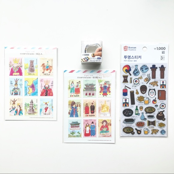 🛍3/$20 Memories of Korea Sticker Set